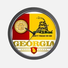 Georgia Gadsden Flag Wall Clock