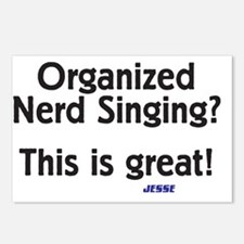 Organized Nerd Singing Postcards (Package of 8)