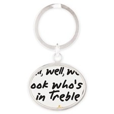 Treble Pun Oval Keychain