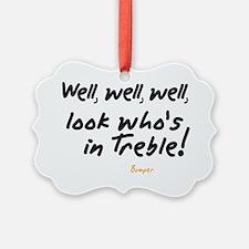Treble Pun Ornament