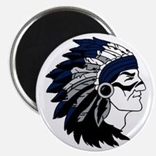 Native American Chief Head with Blue Headdr Magnet