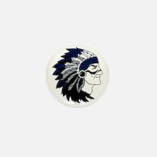 Native American Chief Head with Blue H Mini Button