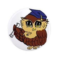 "Graduating Owl 3.5"" Button"