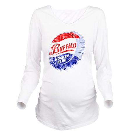 Vintage Buffalo Hock Long Sleeve Maternity T-Shirt