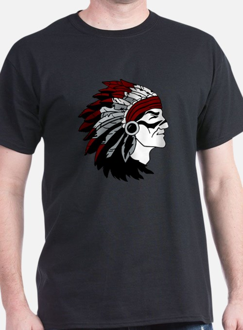 Native American Chief with Red Headdr T-Shirt