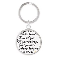 Girls are awesome Round Keychain