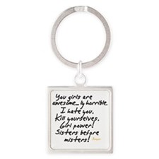 Girls are awesome Square Keychain
