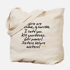 Girls are awesome Tote Bag