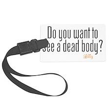 Dead Body Luggage Tag