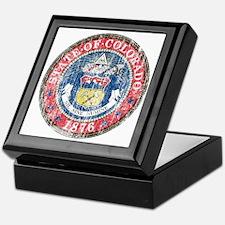 Aged Colorado Seal Keepsake Box
