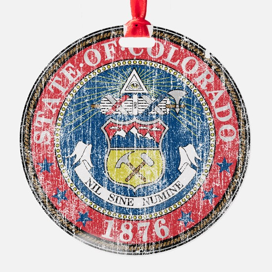Aged Colorado Seal Ornament