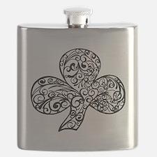 Shamrock Curl Design Flask