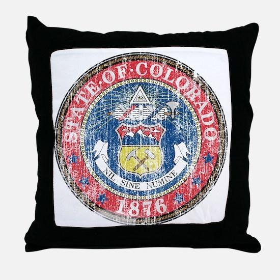 Aged Colorado Seal Throw Pillow