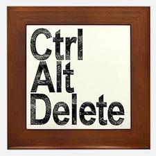 Control Alt Delete Framed Tile