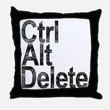 Control Alt Delete Throw Pillow