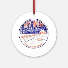 Vintage Key West Round Ornament