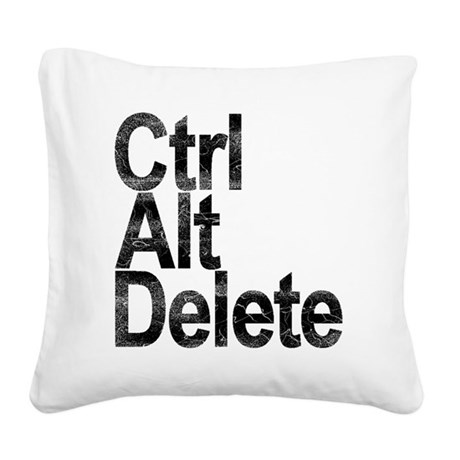 Control Alt Delete Square Canvas Pillow