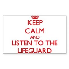 Keep Calm and Listen to the Lifeguard Decal