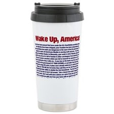 Wake Up, America! Travel Mug