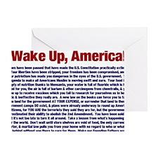Wake Up, America! Greeting Card