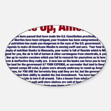 Wake Up, America! Sticker (Oval)