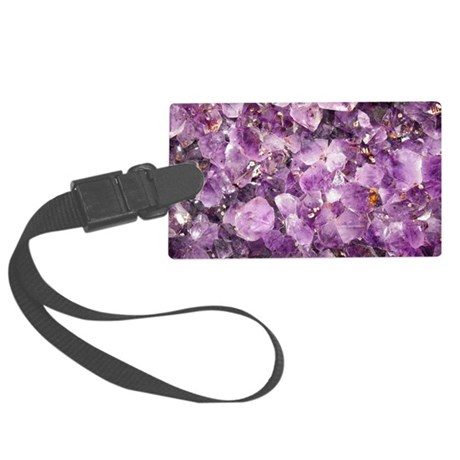 Beautiful Photo of Purple Amethy Large Luggage Tag