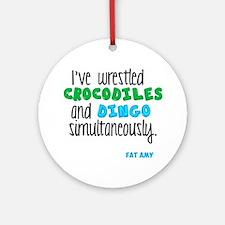 Crocodiles and Dingo Round Ornament