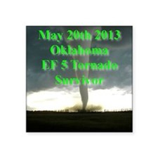 "F5 OK, Tornado Square Sticker 3"" x 3"""