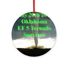 F5 OK, Tornado Round Ornament