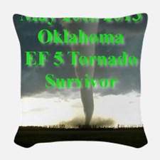 F5 OK, Tornado Woven Throw Pillow