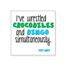 "Crocodiles and Dingo Square Sticker 3"" x 3"""