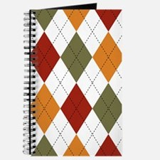 Red, Green and Orange Argyle Journal