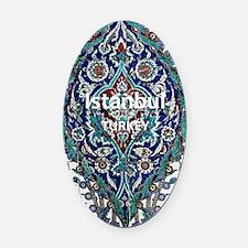 Istanbul_3.0475x5.6556_GalaxyNote2 Oval Car Magnet