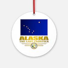 Alaska Pride Round Ornament