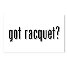 got racquet? Rectangle Decal