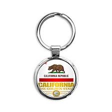California Pride Round Keychain