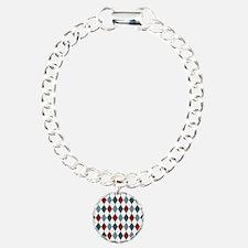 Red Blue and White Argyl Bracelet