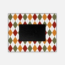 Red Green and Orange Argyle Picture Frame