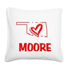 We Love You Moore Square Canvas Pillow