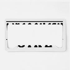 Wisconsin Girl Designs License Plate Holder