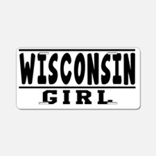 Wisconsin Girl Designs Aluminum License Plate