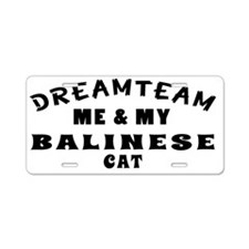 Dream Team Me and My Baline Aluminum License Plate