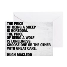 Are you a sheep or a wolf?  Choose w Greeting Card