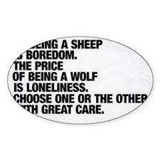 Are you a sheep or a wolf?  Choose  Decal