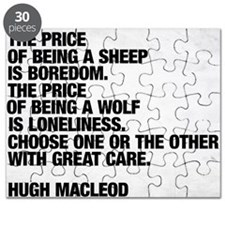 Are you a sheep or a wolf?  Choose with gre Puzzle