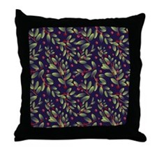 Leaves & Berries Throw Pillow