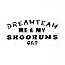 Dream Team Me And My Skooku Aluminum License Plate