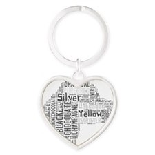 Love Like a Labrador Heart Keychain