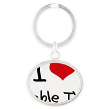 I love Cable TV Oval Keychain