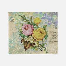 Beautiful Vintage rose design Throw Blanket
